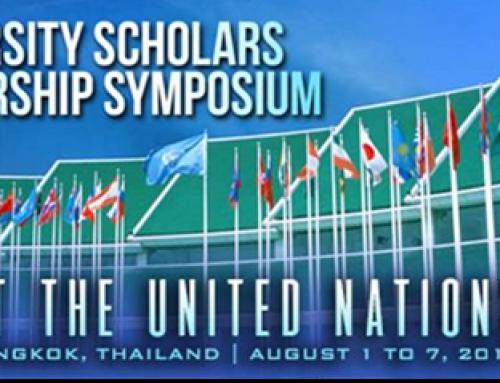 8th University Scholars Leadership Symposium 2017 @ UNITED NATIONS – Bangkok, Thailand