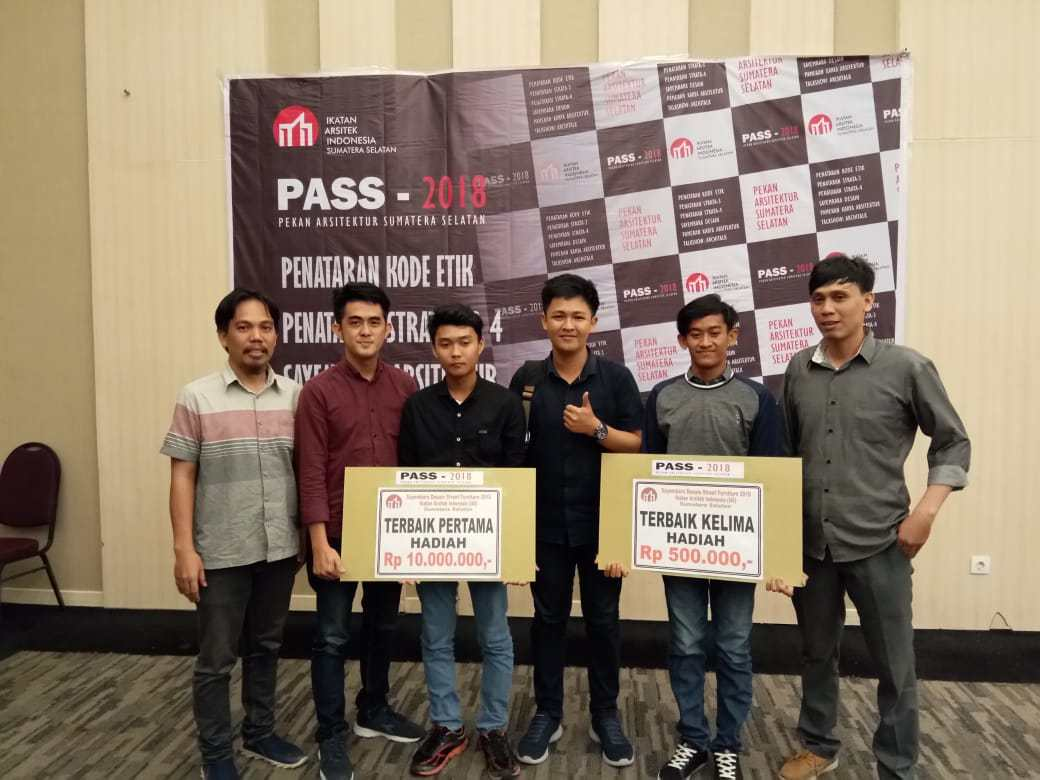 Mahasiswa UM Palembang Sabet Juara I Perancangan Street Furniture 2018