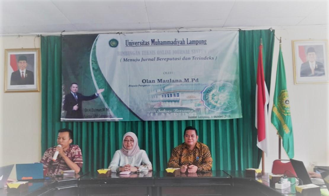 UM Lampung Gelar Bimtek OJS