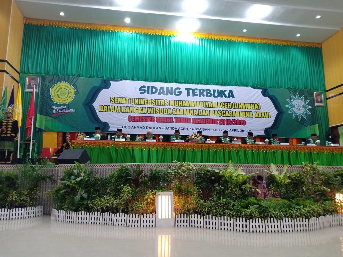 UNMUHA Aceh, Adakan Wisuda 562 Mahasiswa