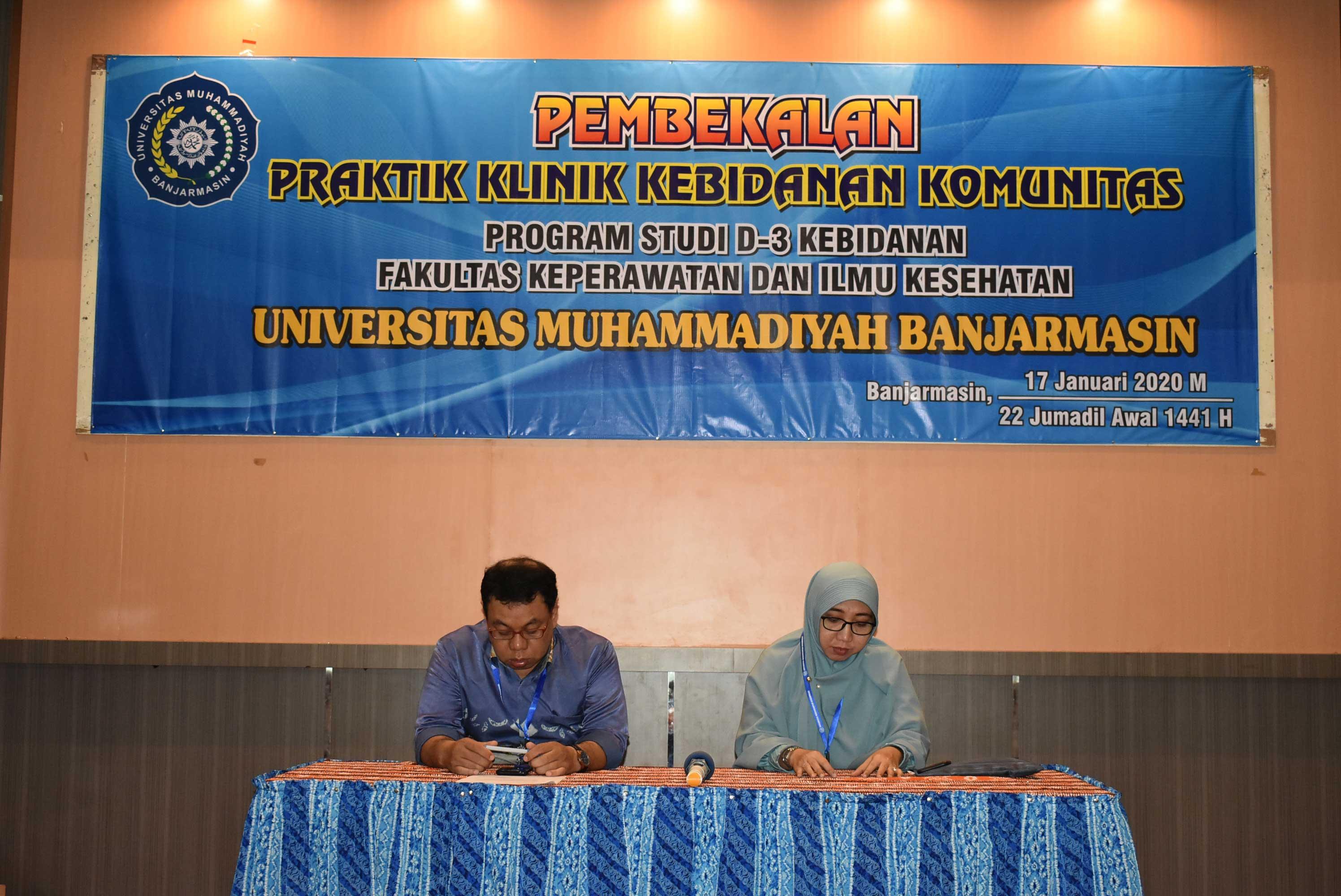 Pembekalan Praktik Kebidanan Komunitas UM Banjarmasin