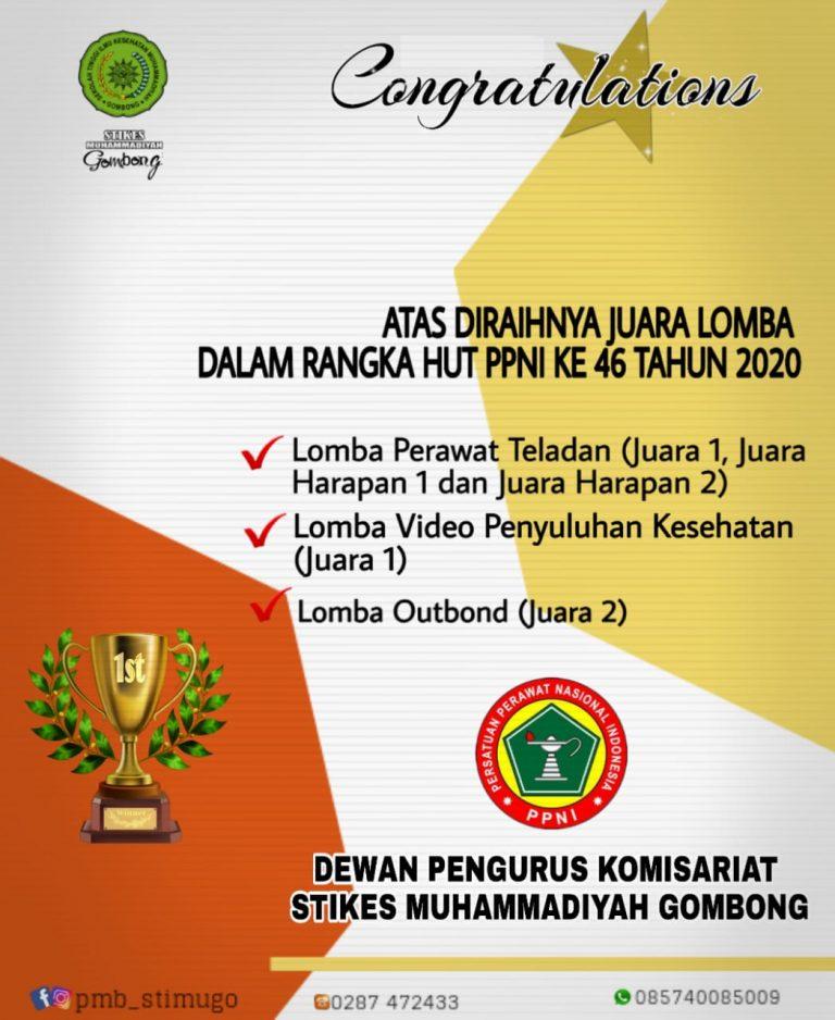 STIKES Muh Gombong Raih Juara Umum Lomba HUT-46