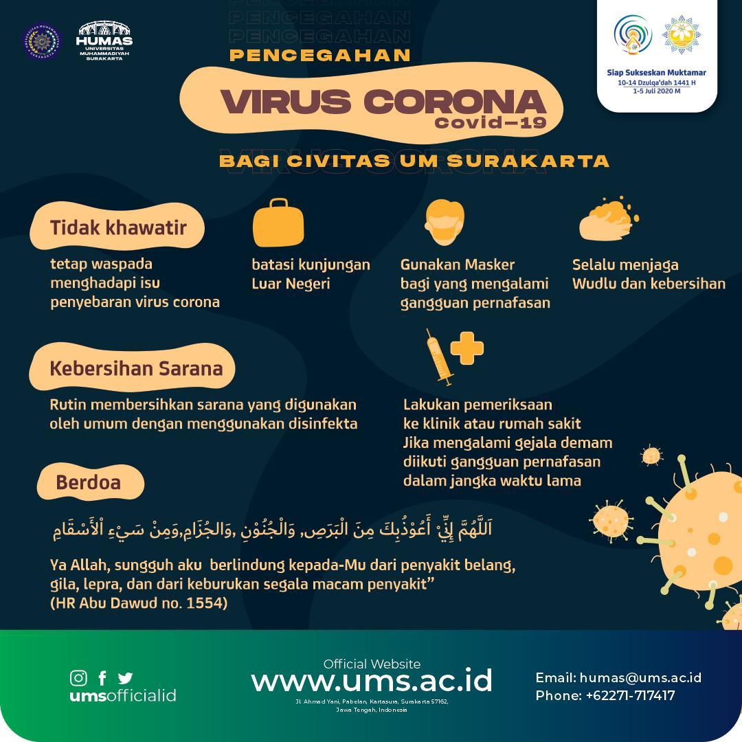 Putuskan Rantai Penyebaran Covid-19, UMS Jalankan Kuliah Online