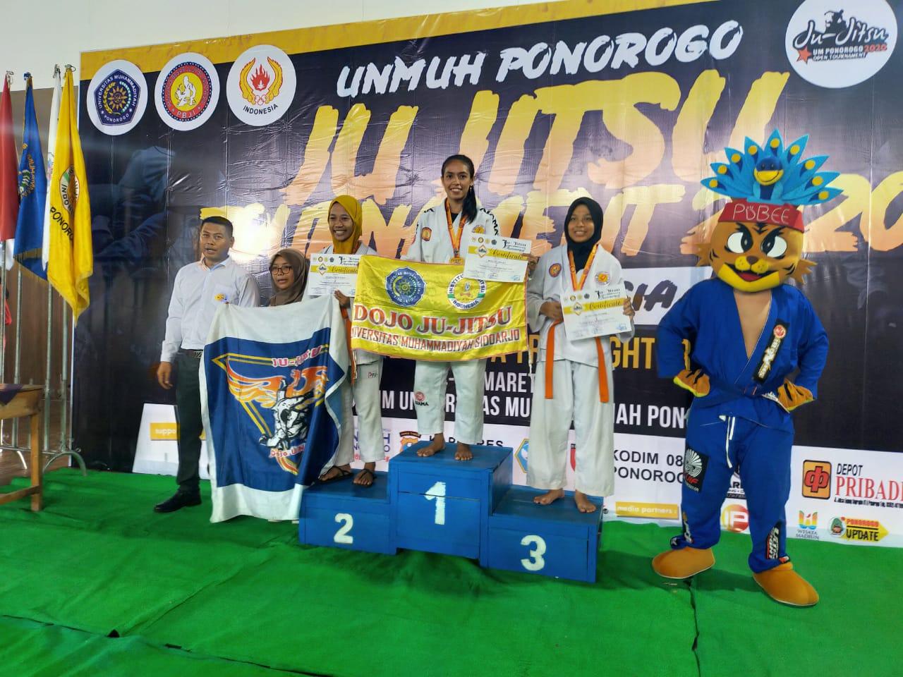 Mahasiswa UMSIDA Raih Juara Jujitsu