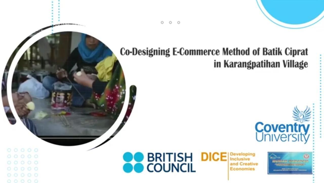 UMPO Angkat Batik Ciprat Lewat Program British Council