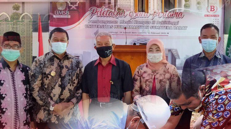 Peletakan Batu Pertama Pembangunan Masjid UMSB