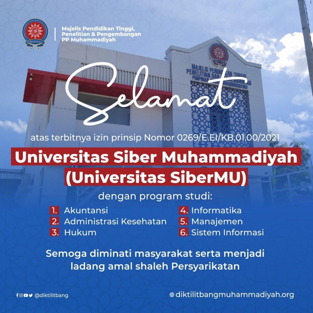 Izin Prinsip Universitas Siber Muhammadiyah Terbit