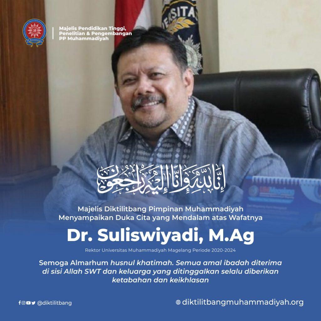Rektor UNIMMA Dr. Suliswiyadi Berpulang