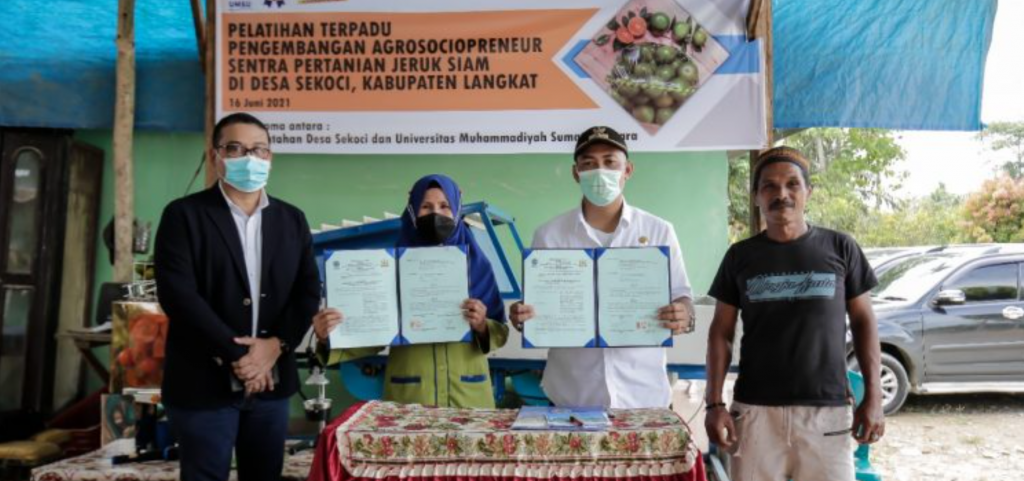 Desa Sekoci Menjadi Lokasi Pengabdian UM Sumatera Utara