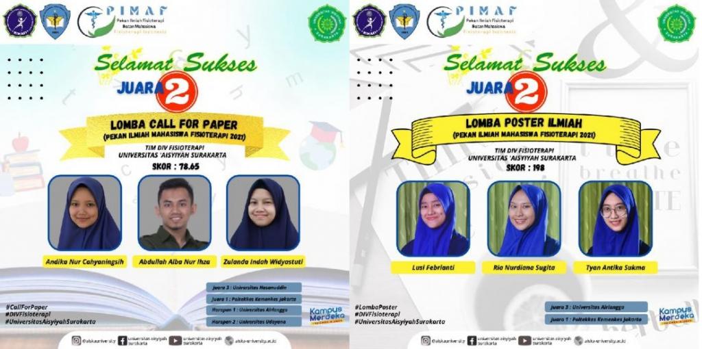 Gelar Juara dalam Pekan Ilmiah Diraih Universitas 'Aisyiyah Surakarta
