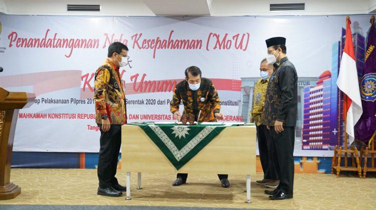 UM Tangerang dan MK Sepakati MoU Sosialisasi Konstitusi