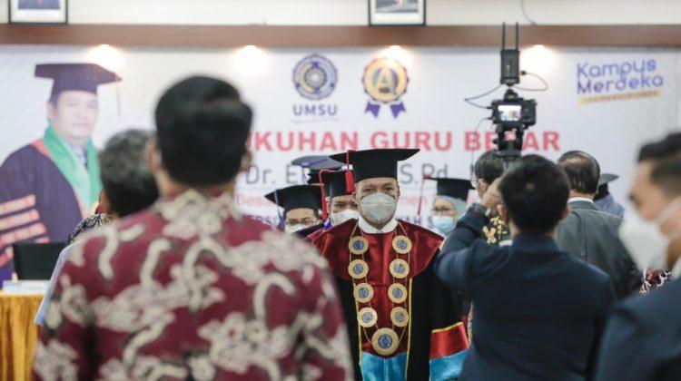 Perkuat Kualitas, UMSU Kembali Tambah Guru Besar