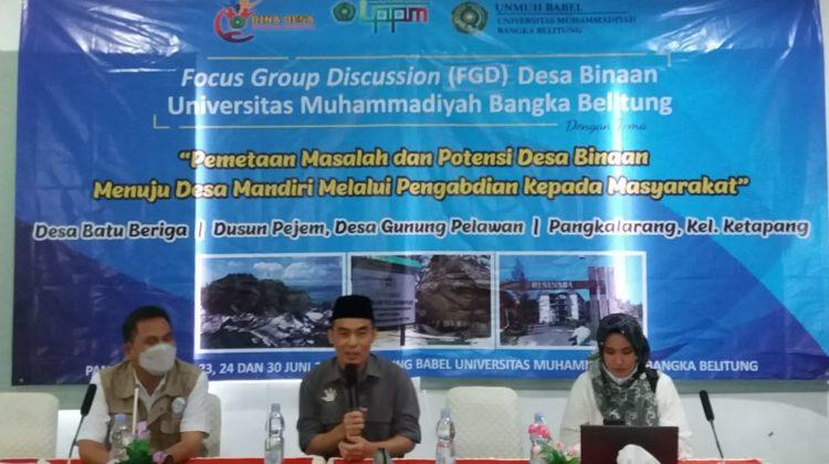 Desa Batu Beriga Menjadi Lokasi Pengabdian Unmuh Bangka Belitung