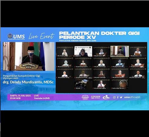 UMS Kembali Lahirkan 14 Dokter Gigi Berprestasi Periode XV