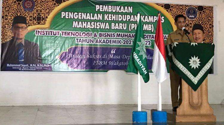 Bupati Wakatobi dan Sekjen Diktilitbang Hadir di PPKMB ITBM Wakatobi