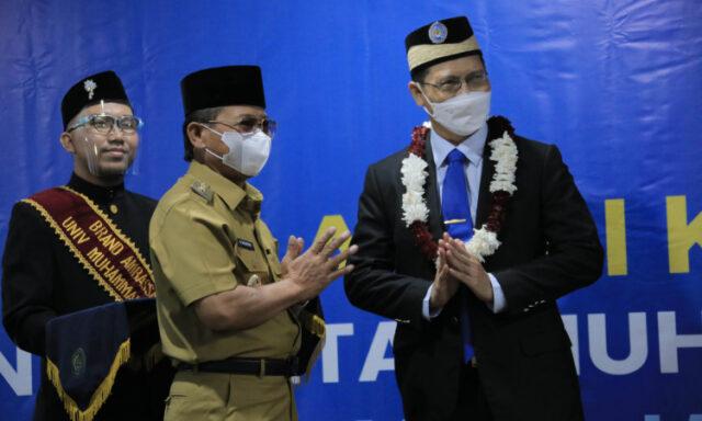 Ahmad Amarullah Kembali Jabat Rektor UM Tangerang