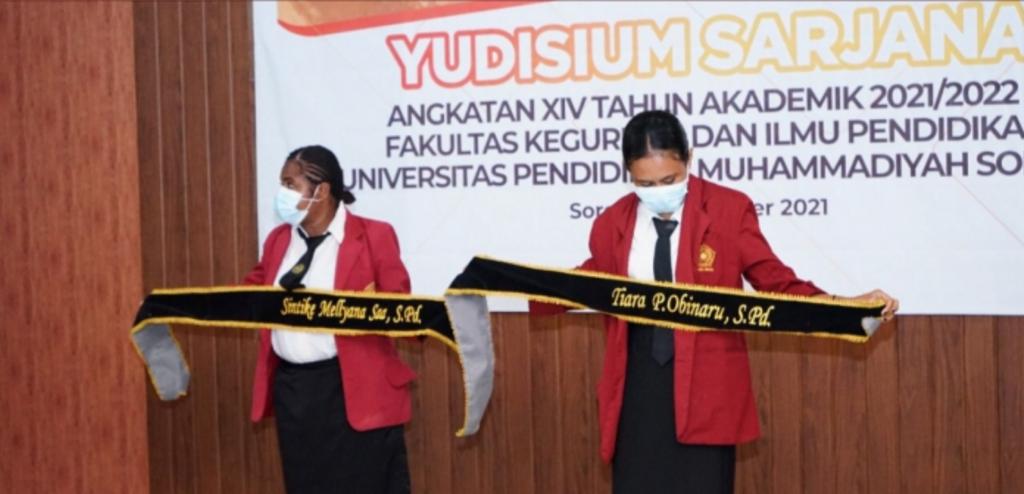 79 Mahasiswa Unimuda Sorong Dikukuhkan sebagai Sarjana Pendidikan