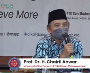 Prof. Chairil Anwar was delivering the speech