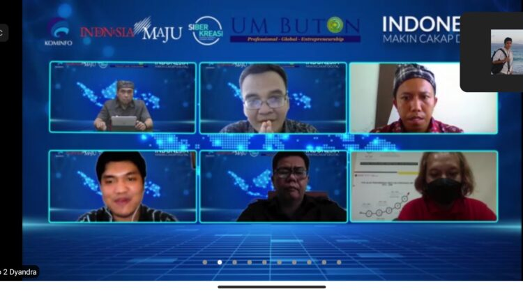 Semangat Berliterasi Digital dalam Webinar UM Buton