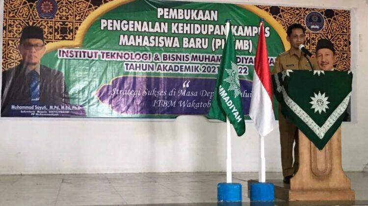 Wakatobi Regent and Diktilitbang Secretary Attended in PPKMB ITBM Wakatobi