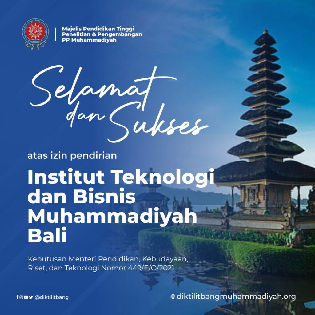 ITBM Bali Jadi PTM Pertama di Bali